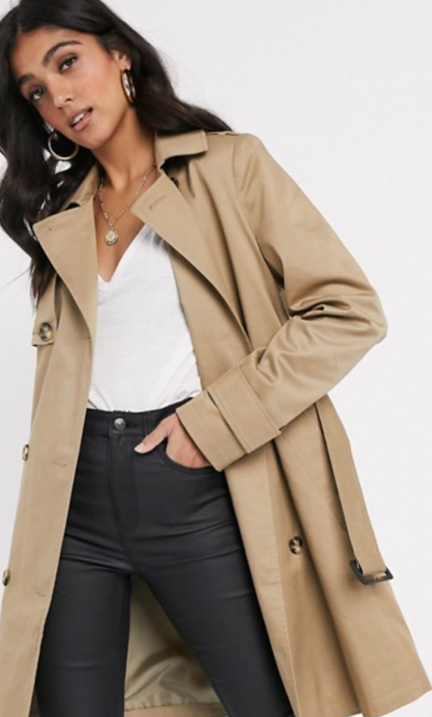 Chic French Look in a Trench Coat